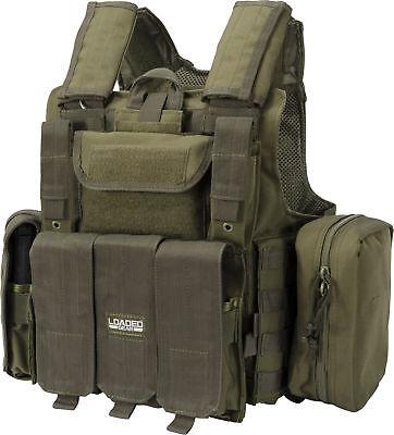 Barska Loaded Gear Tactical Vest VX-300, MOLLE System, OD Green, BI12286