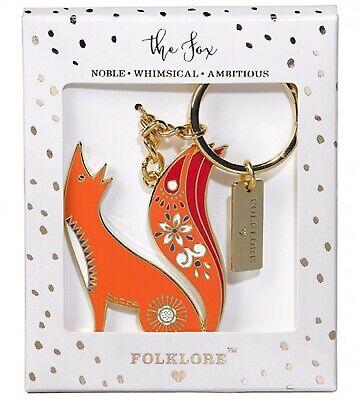 Wild & Wolf Folklore Womens Costume Jewellery - KEYRING - THE FOX...