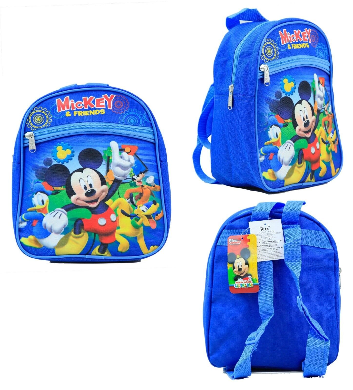 "Disney Mickey Mouse & Friends 10"" Mini Backpack Kids Canvas"
