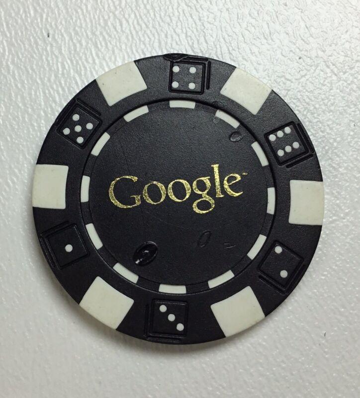 Google Poker Chip Black & White