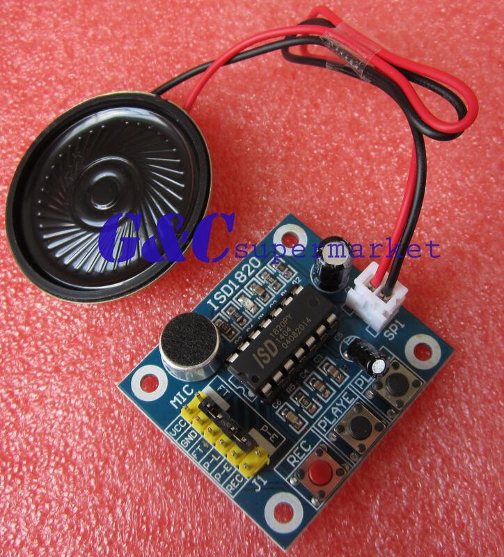 5PCS ISD1820 Voice Recording Playback Module With MIC + Loudspeaker M53