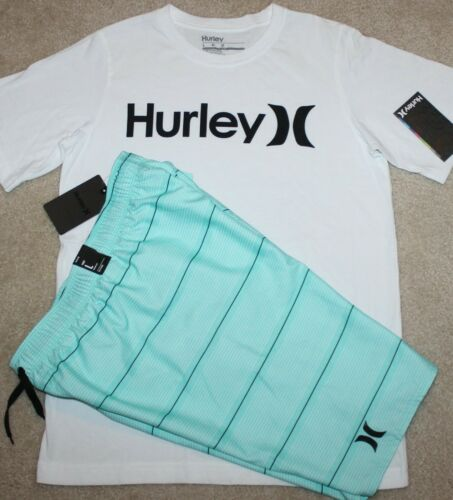 New! Boys Hurley Summer Outfit (Shirt, Swim Trunks/Boardies) - Size Large 14