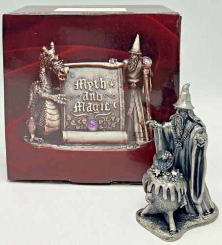 Myth and Magic Tudor Mint Pewter Fantasy Figurine Cauldron of Light Wizard 3006