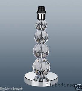 crystal tower lamp base table desk bedside acrylic chrome 35cm tall ebay. Black Bedroom Furniture Sets. Home Design Ideas