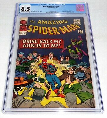 """Amazing Spider-Man #27 CGC 8.5 Green Goblin Appearance """"Death"""" Crime Master Book"""