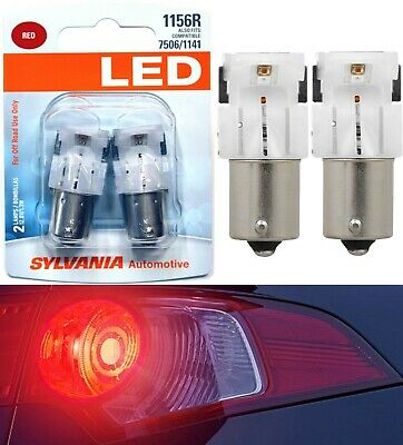 Sylvania Premium LED Light 1156 Red Two Bulbs DRL Daytime Running Replace Show