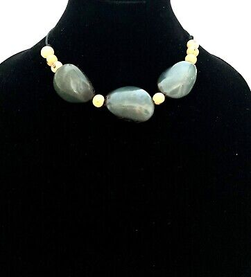 Green Tagua Nut Necklace, Eco Friendly Tagua BIB Necklace TAG187 ()
