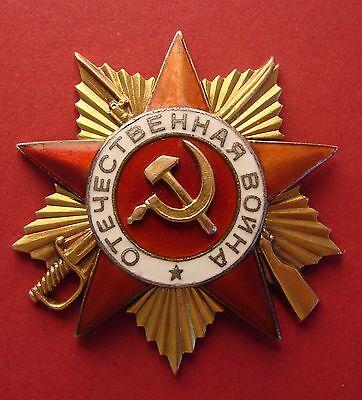 Soviet Order of PATRIOTIC WAR 1 cl in GOLD WW2 LOW# 92401 ORIGINAL Russian medal