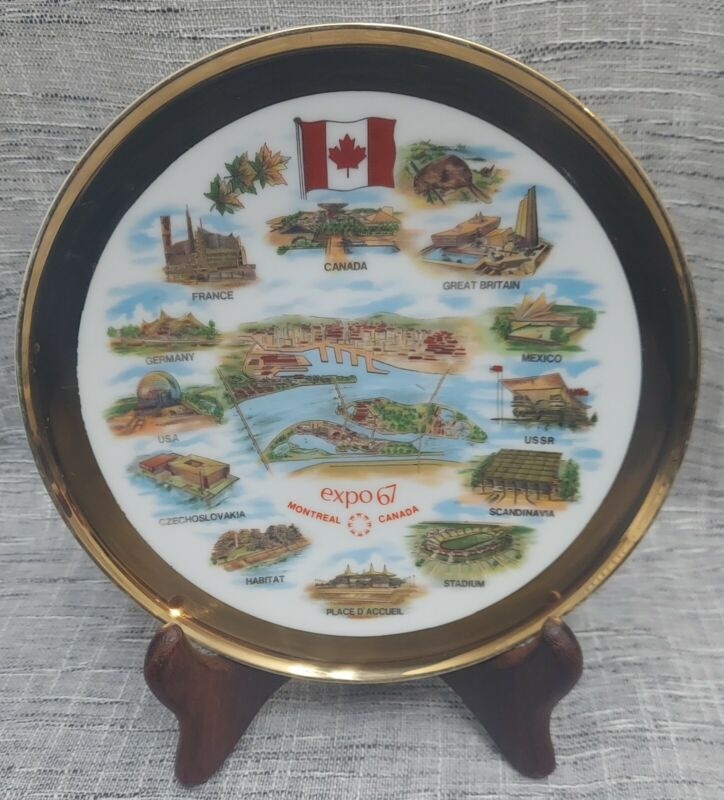 """Expo 67 Montreal Canada 8"""" Collector Plate West Germany Heinrich Selb Bavaria"""