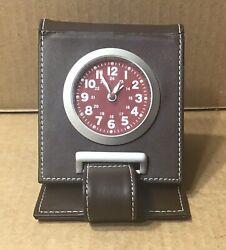 Vintage Marlboro Travel Alarm Clock ~ Wellgain Quartz ~ 12/24 Hour Face ~ Works