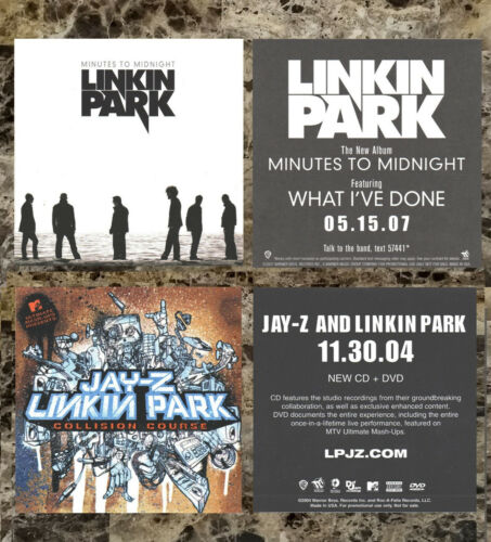 LINKIN PARK Minutes To Midnight | Collision Course Ltd Ed New RARE Stickers Lot!