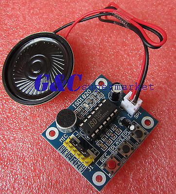 1PCS ISD1820 Voice Recording Playback Module With MIC + Loudspeaker M53