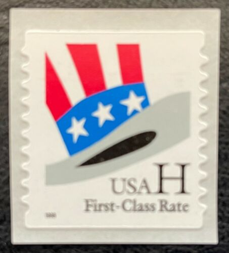 """1998 Scott #3266 - (33¢) - """"H"""" & HAT - Single Linerless Coil Stamp - Mint NH"""