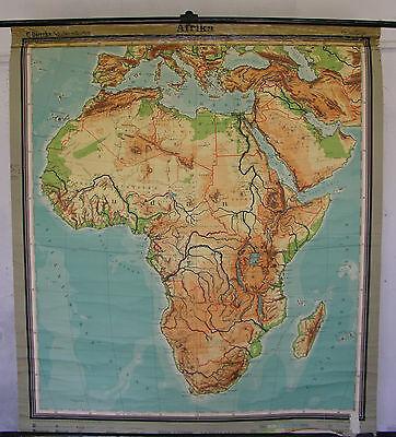 Schulwandkarte Afrika Africa 1955 156x174 Wandkarte Karte Schulkarte physisch