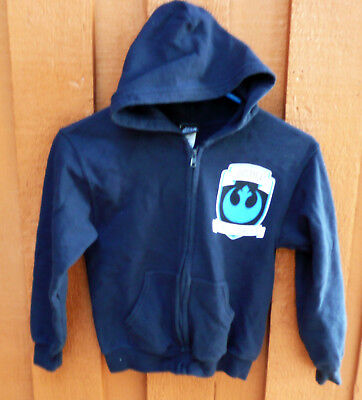 X Wing Fighter Jacket (STAR WARS JUSTICE REBEL FORCES X WING FIGHTER BLUE HOODED SWEAT JACKET CHILD)