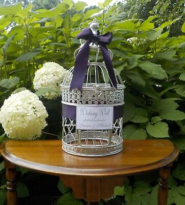 Bird Cage Card Holder, Wishing Well Birdcage, Bridal Shower Special Wishes
