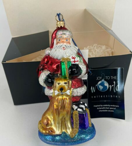 Kurt Adler NIB LARGE Polonaise Ltd Edt Golden Retriever Santa Holiday Ornament