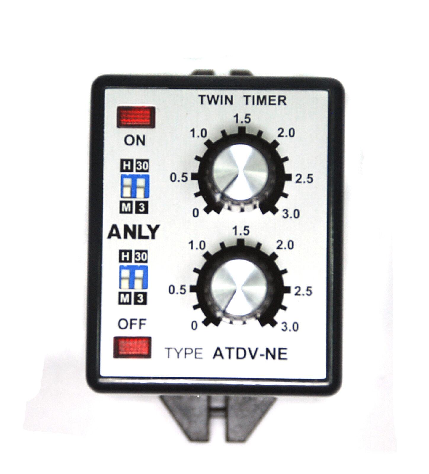 1pc Industrial Twin Timer ATDV-NB 3S 30S 3M 30M DC12V 12V ANLY Taiwan
