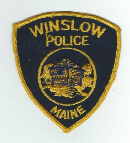 VINTAGE WINSLOW, MAINE POLICE (CHEESE CLOTH BACK) patch