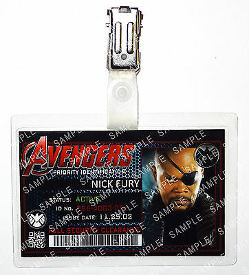 Marvel Avengers Nick Fury Superhero Cosplay Costume Prop Comic Con Halloween](Nick Fury Costume Halloween)
