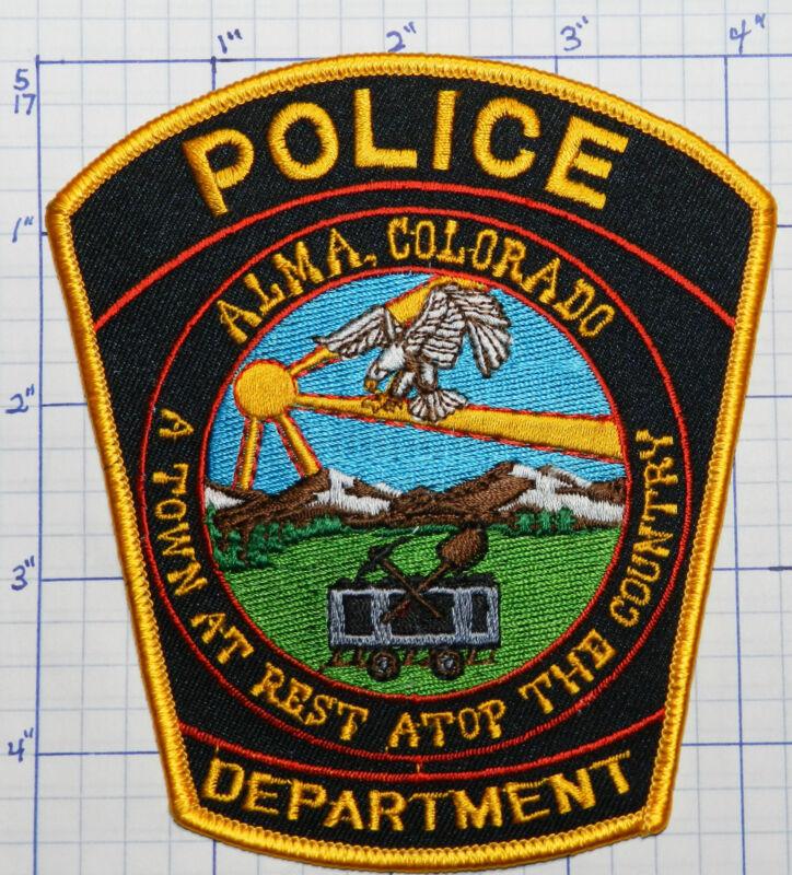 COLORADO, ALMA POLICE DEPT BLACK & GOLD PATCH