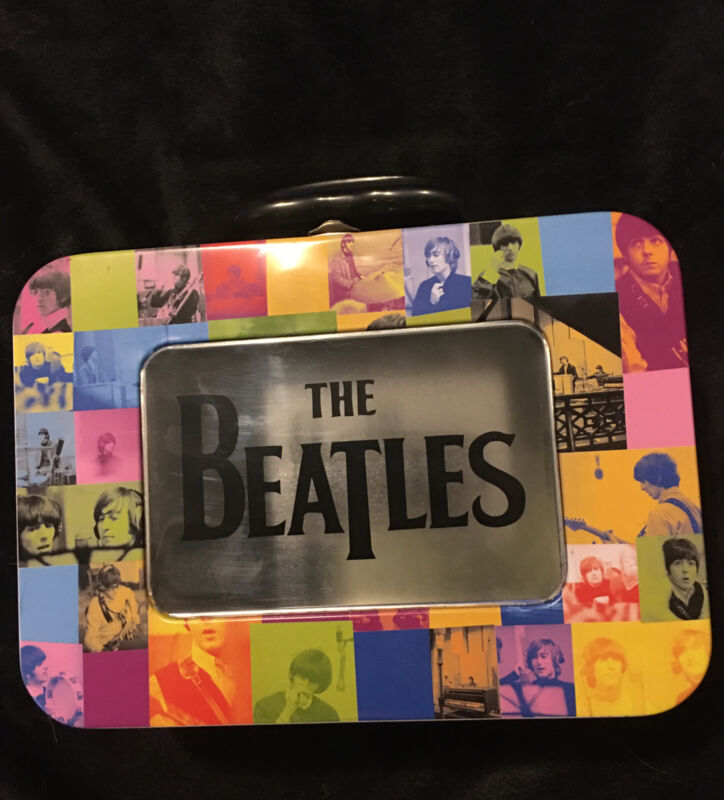 The Beatles Tin Lunchbox Vintage Apple Patchwork Collage