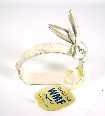 WMF Metall Serviettenring Hase Ostern versilbert Silver-Plated Napkin Ring