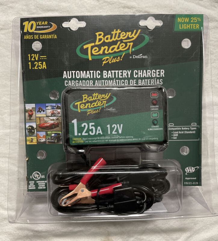 Deltran Battery Tender Plus 12V 1.25A Automatic Advanced Battery Charger - NEW