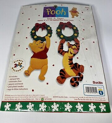 Winnie the pooh And tiger felt door Knob Cover Kit
