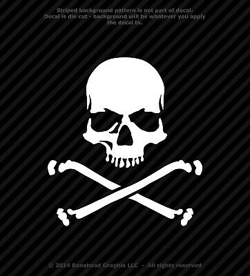Skull and Crossbones Jolly Roger Vinyl Decal Sticker Pirate Warning Yeti iPad - Skull And Crossbones Stickers