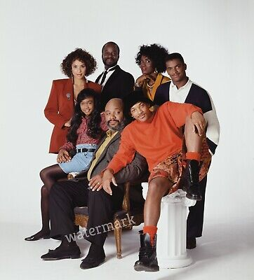 THE FRESH PRINCE OF BEL AIR 90'S TV SHOW FULL CAST TOGETHER PUBLICITY