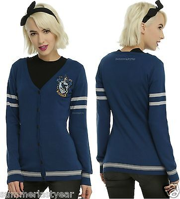 HARRY POTTER BUTTON UP RAVENCLAW CARDIGAN COSTUME COSPLAY EVERY DAY FREE - Every Costume