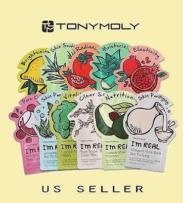 Tony Moly Mask Sheets  Im Real Korean Facial Mask Sheets  Us Seller  You Pick