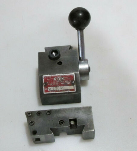 "KDK 0 series Quick change tool post and 01 Toolholder USA 8""-12"" swing"