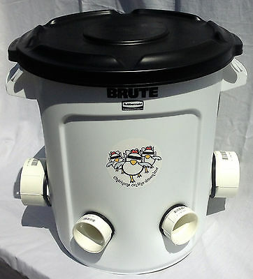 Automatic Chicken Feeder - 10 Gallon - Poop-free For Backyard Chickens