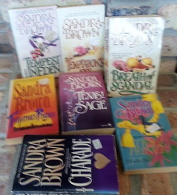 7 SANDRA BROWN lot of books Paperback FREE SHIPPING set book Bundle romance