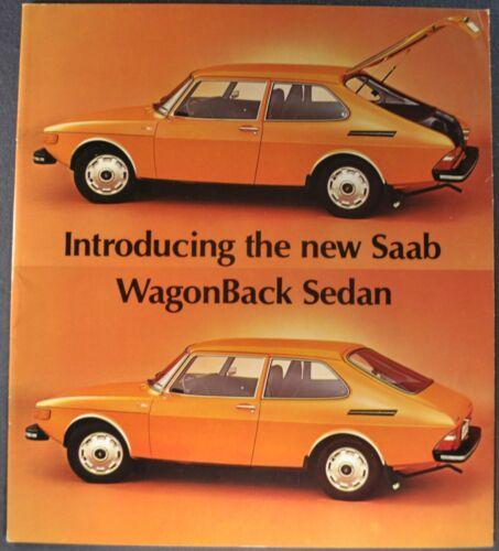 1974 Saab Catalog Sales Brochure 99 WagonBack GL Sedan Excellent Original 74