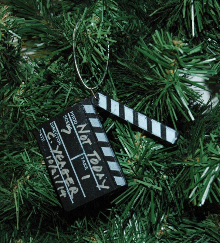 Movie Clapper Board, Clapboard Christmas Ornament