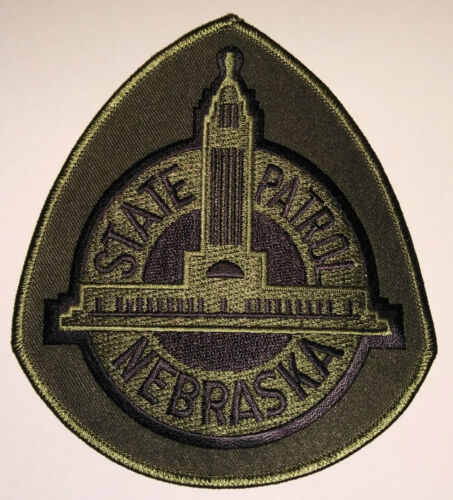 Nebraska State Patrol Tactical Subdued Patch /// FREE US SHIPPING!