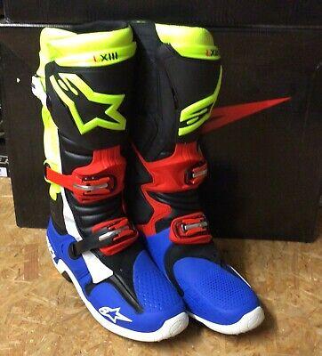 Alpinestars Tech 10 Gelb Rot Blau Gr. 11 / 45,5 - Stiefel...