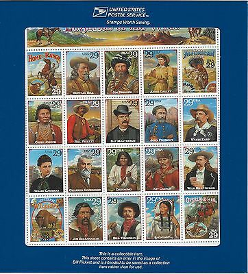 Купить US Stamps: 2870 Recalled Legends of the West sheet in original envelope Mint, NH
