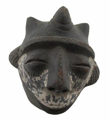 Masquette Votive Terracotta Grade Mask Fetish Ritual Art African 6372