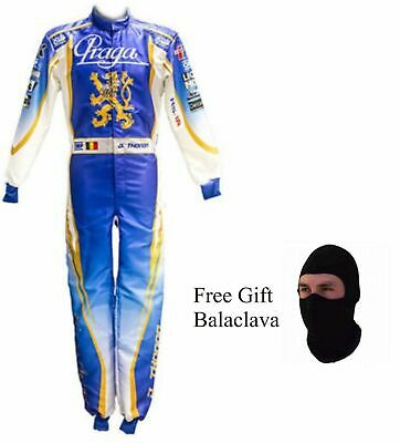 Sports Blue Go Kart Racing Suit Suit,Gloves,Balaclava and Shoes Free Bag Black with Orange Side Style