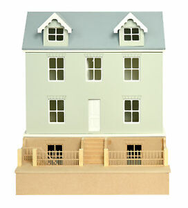 Willow Cottage Dolls House 1:24  Scale -  Unpainted Dolls House Kit