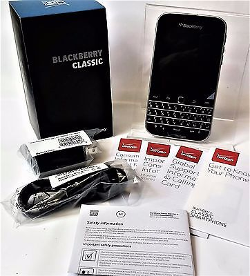 NEW BlackBerry Classic - 16GB - Black Unlocked (Verizon) Smartphone 4G LTE Touch