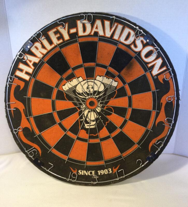 Harley-Davidson Traditional Premium Dartboard 18 in. Engine 61975 VTWIN HD FLAME