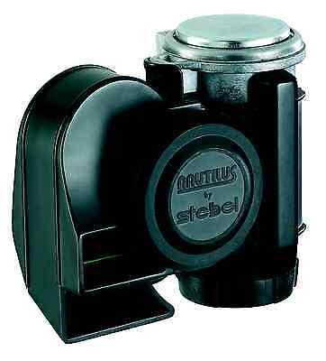 Stebel Nautilus Compact schwarz 12V für Auto/Motorrad. Sehr laut! TÜV zugelassen