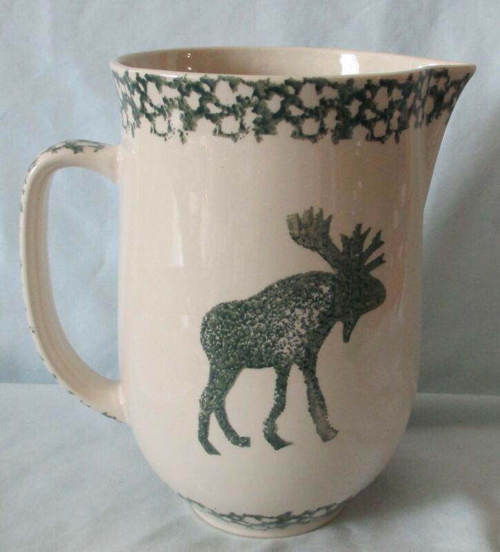 Tienshan Folkcraft Moose Country Sponge Green Water or Milk Pitcher 48 oz