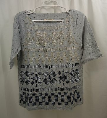 Womens Lucky Brand Embroidered Shirt Medium Nwt