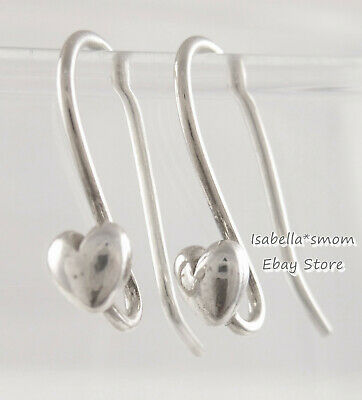 RETIRED Genuine PANDORA Silver Compose Dangle EARRINGS HEART POSTS Hooks 290449 Dangling Heart Post Earrings